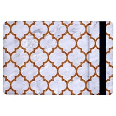 TILE1 WHITE MARBLE & RUSTED METAL (R) iPad Air Flip