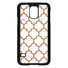 TILE1 WHITE MARBLE & RUSTED METAL (R) Samsung Galaxy S5 Case (Black)