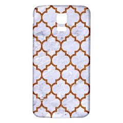TILE1 WHITE MARBLE & RUSTED METAL (R) Samsung Galaxy S5 Back Case (White)