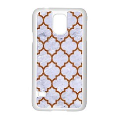 TILE1 WHITE MARBLE & RUSTED METAL (R) Samsung Galaxy S5 Case (White)