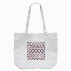 TILE1 WHITE MARBLE & RUSTED METAL (R) Tote Bag (White)