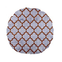 TILE1 WHITE MARBLE & RUSTED METAL (R) Standard 15  Premium Flano Round Cushions