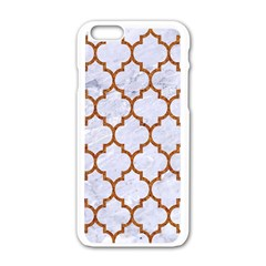 TILE1 WHITE MARBLE & RUSTED METAL (R) Apple iPhone 6/6S White Enamel Case