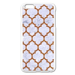 TILE1 WHITE MARBLE & RUSTED METAL (R) Apple iPhone 6 Plus/6S Plus Enamel White Case
