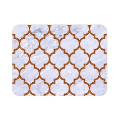 TILE1 WHITE MARBLE & RUSTED METAL (R) Double Sided Flano Blanket (Mini)