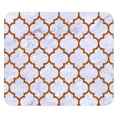 TILE1 WHITE MARBLE & RUSTED METAL (R) Double Sided Flano Blanket (Small)
