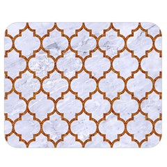 TILE1 WHITE MARBLE & RUSTED METAL (R) Double Sided Flano Blanket (Medium)