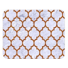 TILE1 WHITE MARBLE & RUSTED METAL (R) Double Sided Flano Blanket (Large)