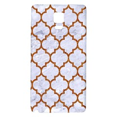 TILE1 WHITE MARBLE & RUSTED METAL (R) Galaxy Note 4 Back Case
