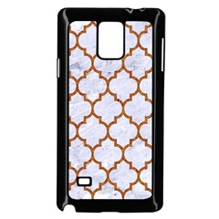 TILE1 WHITE MARBLE & RUSTED METAL (R) Samsung Galaxy Note 4 Case (Black)