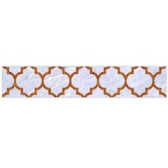 TILE1 WHITE MARBLE & RUSTED METAL (R) Large Flano Scarf