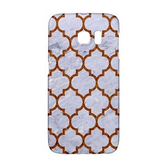TILE1 WHITE MARBLE & RUSTED METAL (R) Galaxy S6 Edge