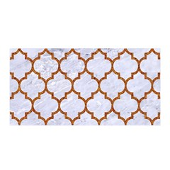 TILE1 WHITE MARBLE & RUSTED METAL (R) Satin Wrap