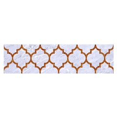 TILE1 WHITE MARBLE & RUSTED METAL (R) Satin Scarf (Oblong)