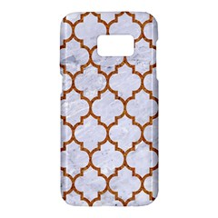 TILE1 WHITE MARBLE & RUSTED METAL (R) Samsung Galaxy S7 Hardshell Case