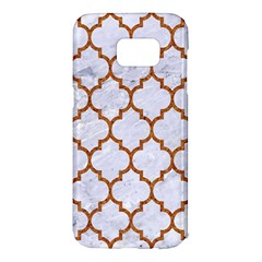 TILE1 WHITE MARBLE & RUSTED METAL (R) Samsung Galaxy S7 Edge Hardshell Case