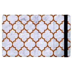 TILE1 WHITE MARBLE & RUSTED METAL (R) Apple iPad Pro 12.9   Flip Case