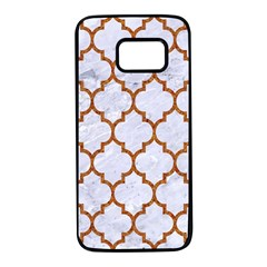 TILE1 WHITE MARBLE & RUSTED METAL (R) Samsung Galaxy S7 Black Seamless Case