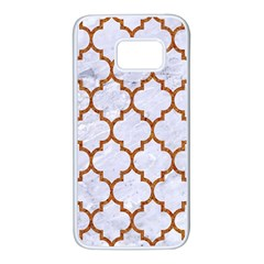 TILE1 WHITE MARBLE & RUSTED METAL (R) Samsung Galaxy S7 White Seamless Case