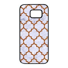 TILE1 WHITE MARBLE & RUSTED METAL (R) Samsung Galaxy S7 edge Black Seamless Case