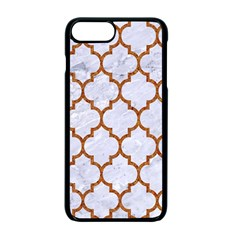 Tile1 White Marble & Rusted Metal (r) Apple Iphone 7 Plus Seamless Case (black) by trendistuff
