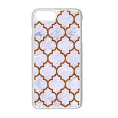 TILE1 WHITE MARBLE & RUSTED METAL (R) Apple iPhone 7 Plus Seamless Case (White)