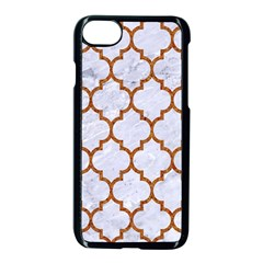 TILE1 WHITE MARBLE & RUSTED METAL (R) Apple iPhone 7 Seamless Case (Black)