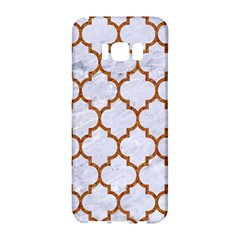 TILE1 WHITE MARBLE & RUSTED METAL (R) Samsung Galaxy S8 Hardshell Case