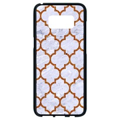 TILE1 WHITE MARBLE & RUSTED METAL (R) Samsung Galaxy S8 Black Seamless Case