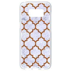 TILE1 WHITE MARBLE & RUSTED METAL (R) Samsung Galaxy S8 White Seamless Case