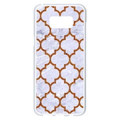 TILE1 WHITE MARBLE & RUSTED METAL (R) Samsung Galaxy S8 Plus White Seamless Case