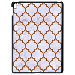 TILE1 WHITE MARBLE & RUSTED METAL (R) Apple iPad Pro 9.7   Black Seamless Case