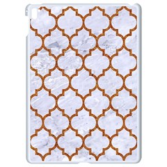 TILE1 WHITE MARBLE & RUSTED METAL (R) Apple iPad Pro 9.7   White Seamless Case