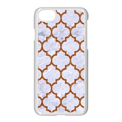 TILE1 WHITE MARBLE & RUSTED METAL (R) Apple iPhone 8 Seamless Case (White)