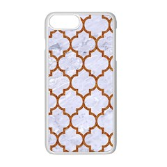 TILE1 WHITE MARBLE & RUSTED METAL (R) Apple iPhone 8 Plus Seamless Case (White)