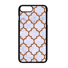 TILE1 WHITE MARBLE & RUSTED METAL (R) Apple iPhone 8 Plus Seamless Case (Black)
