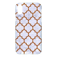 TILE1 WHITE MARBLE & RUSTED METAL (R) Apple iPhone X Hardshell Case