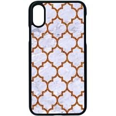 TILE1 WHITE MARBLE & RUSTED METAL (R) Apple iPhone X Seamless Case (Black)