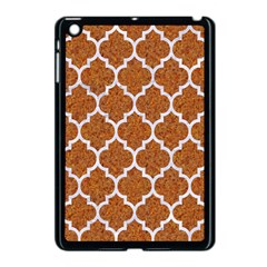 Tile1 White Marble & Rusted Metal Apple Ipad Mini Case (black) by trendistuff