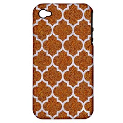 Tile1 White Marble & Rusted Metal Apple Iphone 4/4s Hardshell Case (pc+silicone) by trendistuff