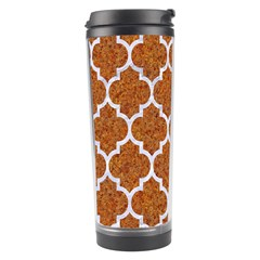 Tile1 White Marble & Rusted Metal Travel Tumbler by trendistuff