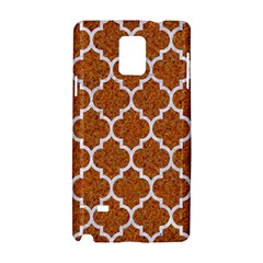 Tile1 White Marble & Rusted Metal Samsung Galaxy Note 4 Hardshell Case by trendistuff