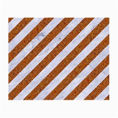 Stripes3 White Marble & Rusted Metal (r) Small Glasses Cloth by trendistuff