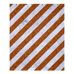 Stripes3 White Marble & Rusted Metal (r) Shower Curtain 60  X 72  (medium)  by trendistuff