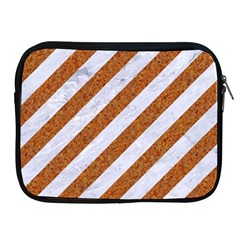 Stripes3 White Marble & Rusted Metal (r) Apple Ipad 2/3/4 Zipper Cases by trendistuff