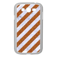 Stripes3 White Marble & Rusted Metal (r) Samsung Galaxy Grand Duos I9082 Case (white) by trendistuff
