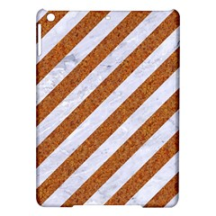 Stripes3 White Marble & Rusted Metal (r) Ipad Air Hardshell Cases by trendistuff