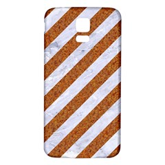 Stripes3 White Marble & Rusted Metal (r) Samsung Galaxy S5 Back Case (white) by trendistuff