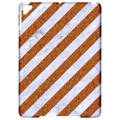 Stripes3 White Marble & Rusted Metal (r) Apple Ipad Pro 9 7   Hardshell Case by trendistuff