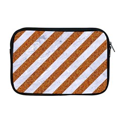 Stripes3 White Marble & Rusted Metal (r) Apple Macbook Pro 17  Zipper Case by trendistuff